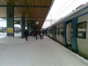 Uppsala C, vid vändspåret för pendeltåget