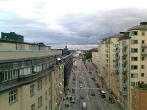 Katarinavägen i backen från Slussen upp mot Södermalm