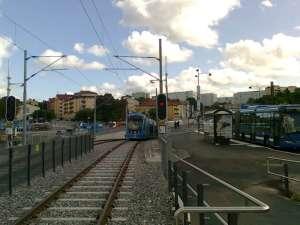 Tvärbanan Solna centrum, mot Solna station