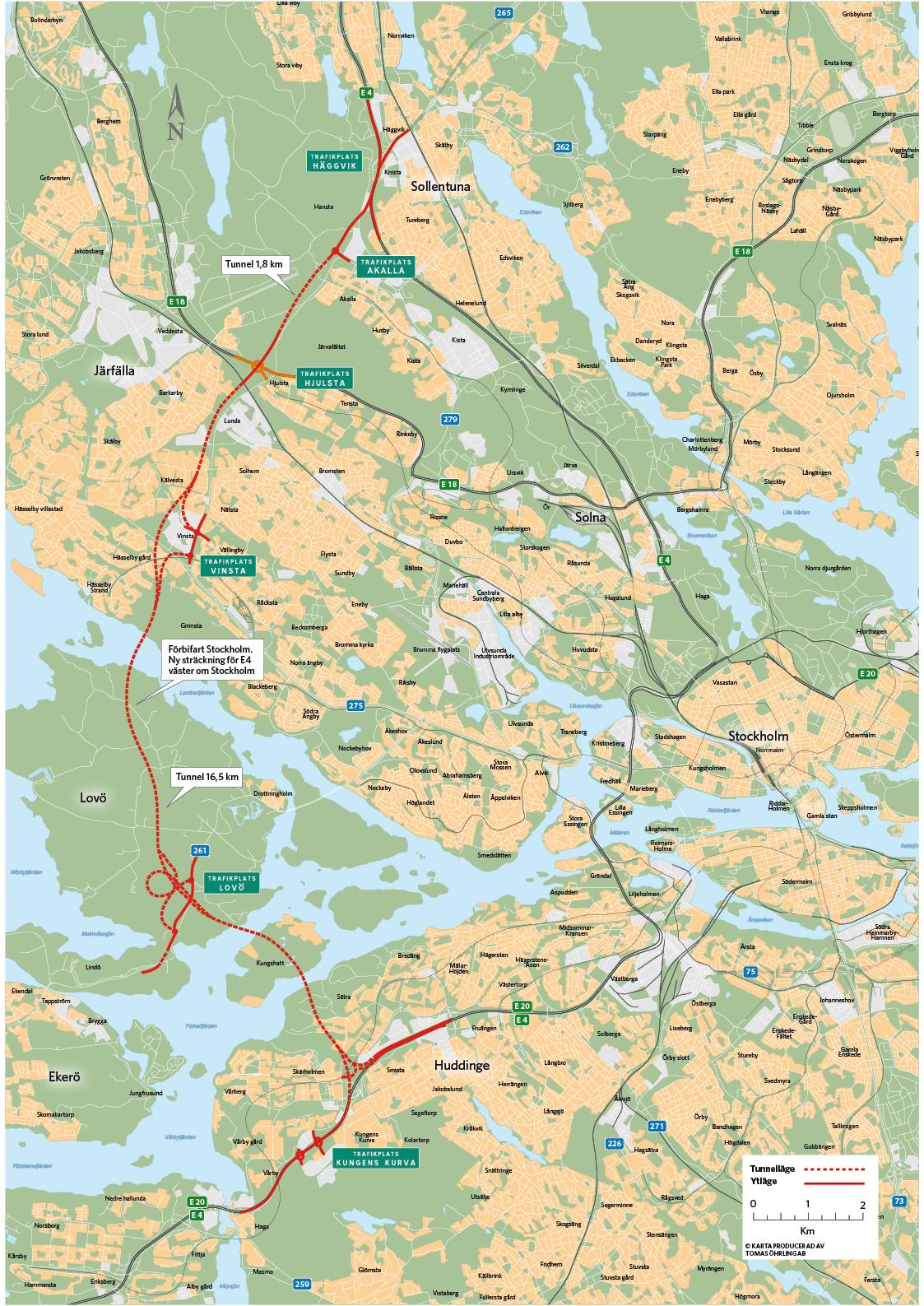 förbifart stockholm karta Förbifart Stockholm byggs | stockholmiana förbifart stockholm karta