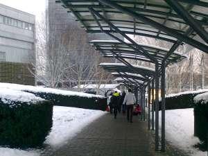 Regn- och väderskydd på väg mot Stockholmsmässan