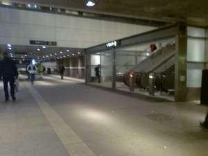 Uppsala C, gångtunnel under järnvägen