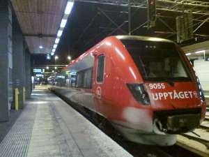 Uppsala C, Upptåget mot Morgongåva-Sala