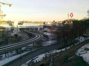 Hammarbybacken, sedd från Skanstullsbron