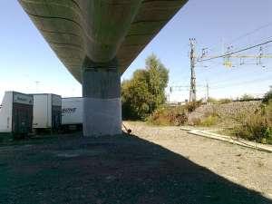 Älvsjöbågen, under själva bron