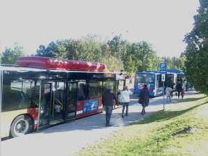 Bussar vid Kungens Kurva
