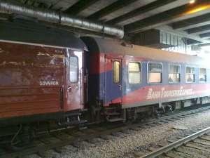 Vagnar mitt i krokodil-tåget