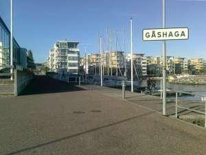 Bostadsområdet vid Gåshaga brygga