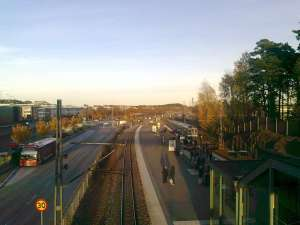 Roslagsbanan station Täby centrum
