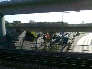 Tvärbanan Årstaberg, överblick från pendeltågsstationen