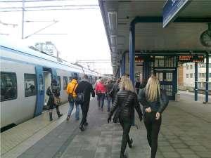 Avstigning vid Solna station... Mall of Scandinavia nästa! ;)