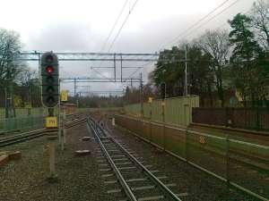 Djursholms Ösby, växelpartiet söder om stationen