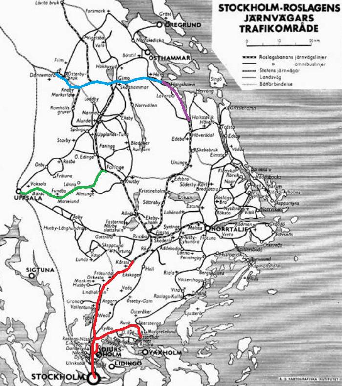 roslagsbanan karta Roslagsbanan | stockholmiana roslagsbanan karta