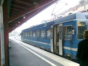 Motorvagn vid Östra station