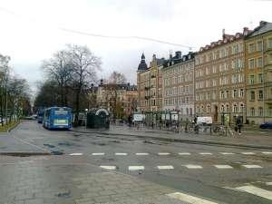 Valhallavägen vid Östra station
