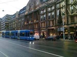 NK och NK-expressen, sett från näraliggande Kungsträdgården