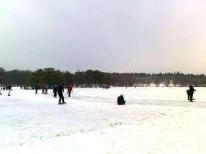 Isbanan på Källtorpssjön