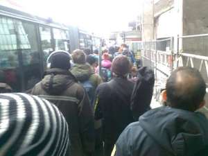 Slussen buss 401 en fin vinterdag