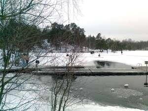 Vak för vinterbad