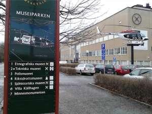 Informationstavla vid Museiparken