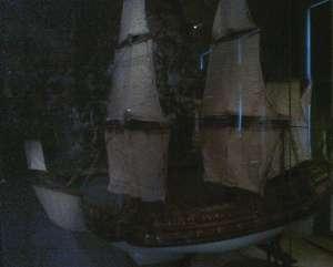 Modell av 1600-talsskepp