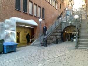 Trapporna mot Malmskillnadsgatan