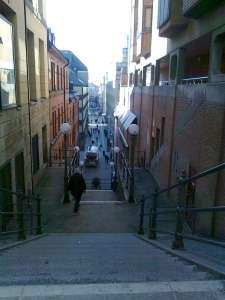 Trapporna sett från Malmskillnadsgatan