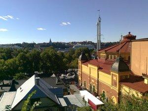 Utsikt söderut från Skansen