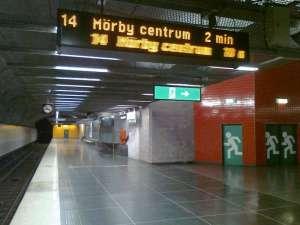 Tunnelbanestation Universitetet, stängd uppgång mot Naturhistoriska riksmuseet