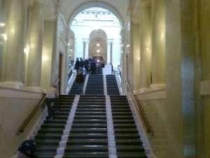 Gamla trappan upp till riksdagens kamrar
