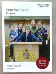 Öppet hus i riksdagen 25 mars 2017 Program
