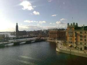 Utsikt från Riksdagshuset, mot väster