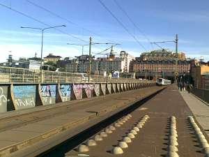 Bron mellan Södermalm och Gamla Stan mot söder