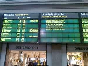 Informationstavla Stockholms Centralstation