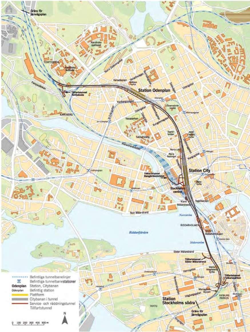 Trafikstart For Citybanan Stockholmiana