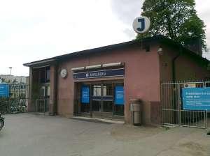Karlbergs station som stänger 10 juli 2017