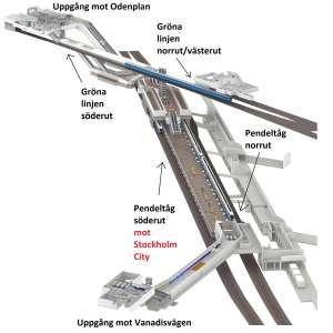 Modell Station Stockholm Odenplan (moddad)