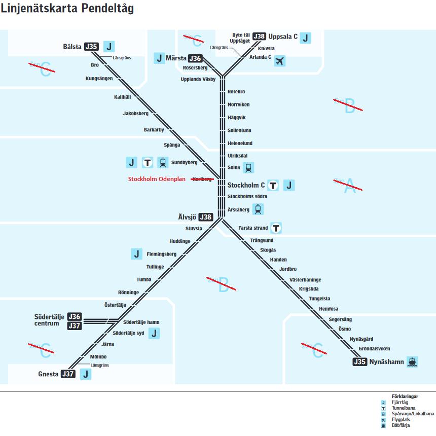 sl pendeltåg karta stockholm Trafikstart för Citybanan | stockholmiana sl pendeltåg karta stockholm