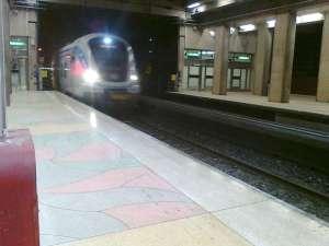 Södra Station tunnelmynningen vid Citybanans början