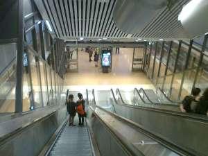 Stockholm City sista rulltrapporna mot plattformen