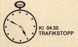 Högertrafik 3 sep 1967 kl 04.50 Trafikstopp