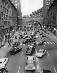 Kungsgatan 1967 övergång till högertrafik