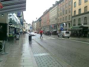 Sista delen av Kungsgatan ner mot Stureplan