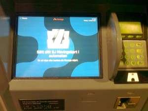 Biljett maskin, Sätt ditt SJ Movingokort i automaten