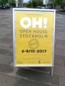 Open House Stockholm affisch