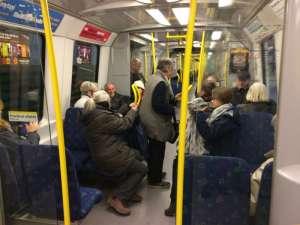 I tunnelbanan efter avslutad konståkning