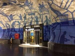T-Centralen arbete med Blå linjen