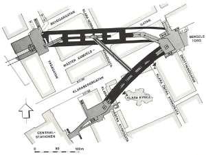T-Centralen planritning 1975
