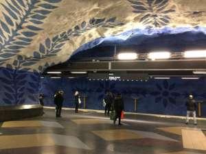 T-Centralen plattformen Blå linjen