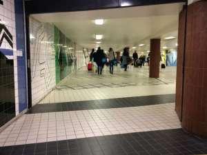 T-Centralen suckarnas gång mot Centralen